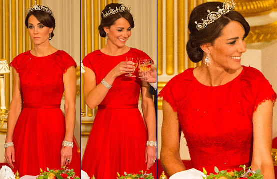 Duchess Kate dazzles in a tiara