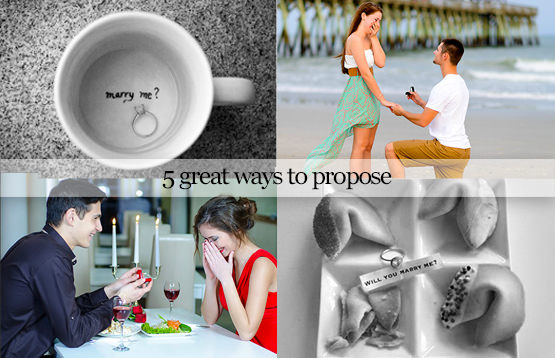 Five great ways to propose