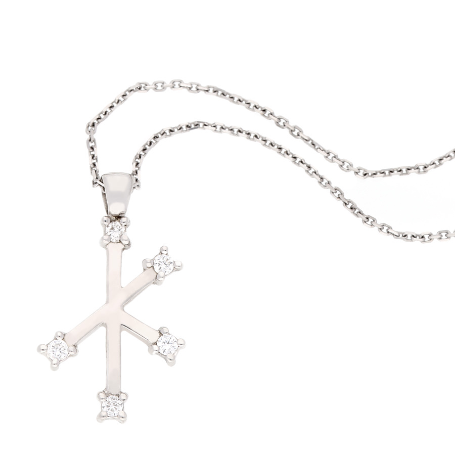 18k white gold southern cross diamond pendant and chain and chain 18k white gold southern cross diamond pendant and chain and chain for sale by uwe koetter aloadofball Choice Image