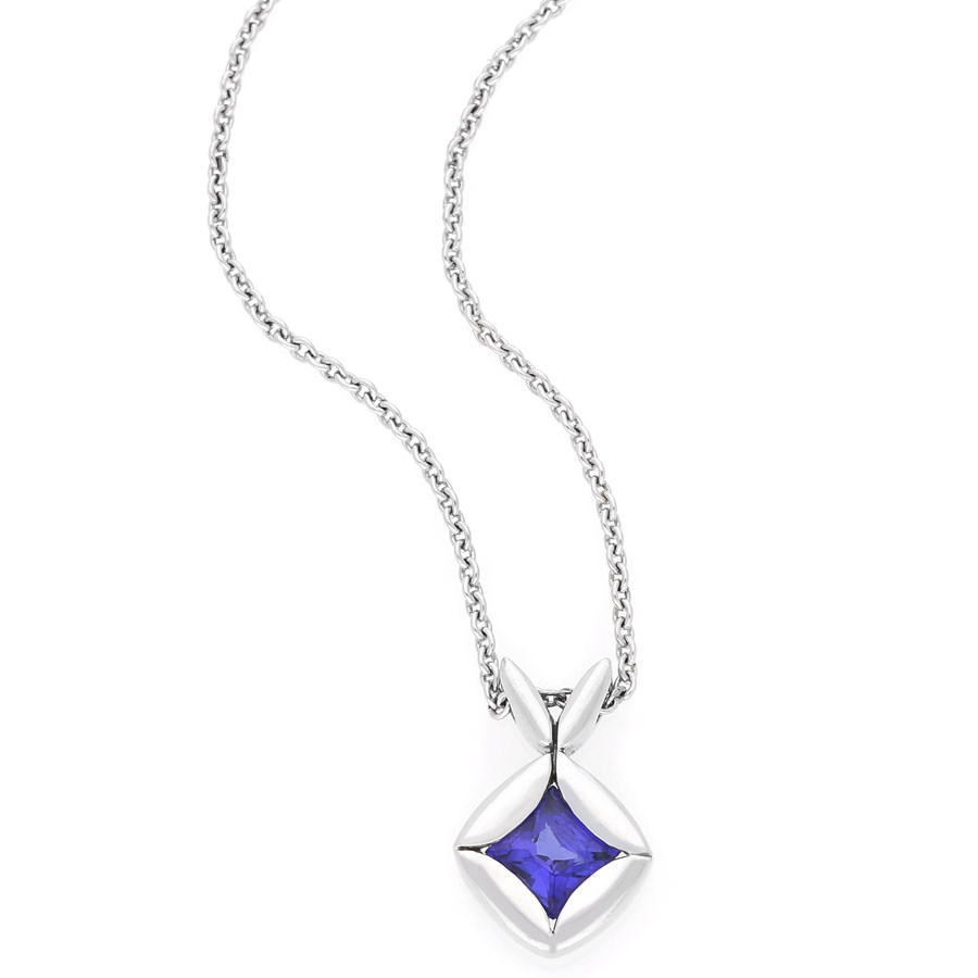 18k white gold tanzanite pendant and chain for sale by uwe koetter 18k white gold tanzanite pendant and chain for sale by uwe koetter jewellers aloadofball Gallery