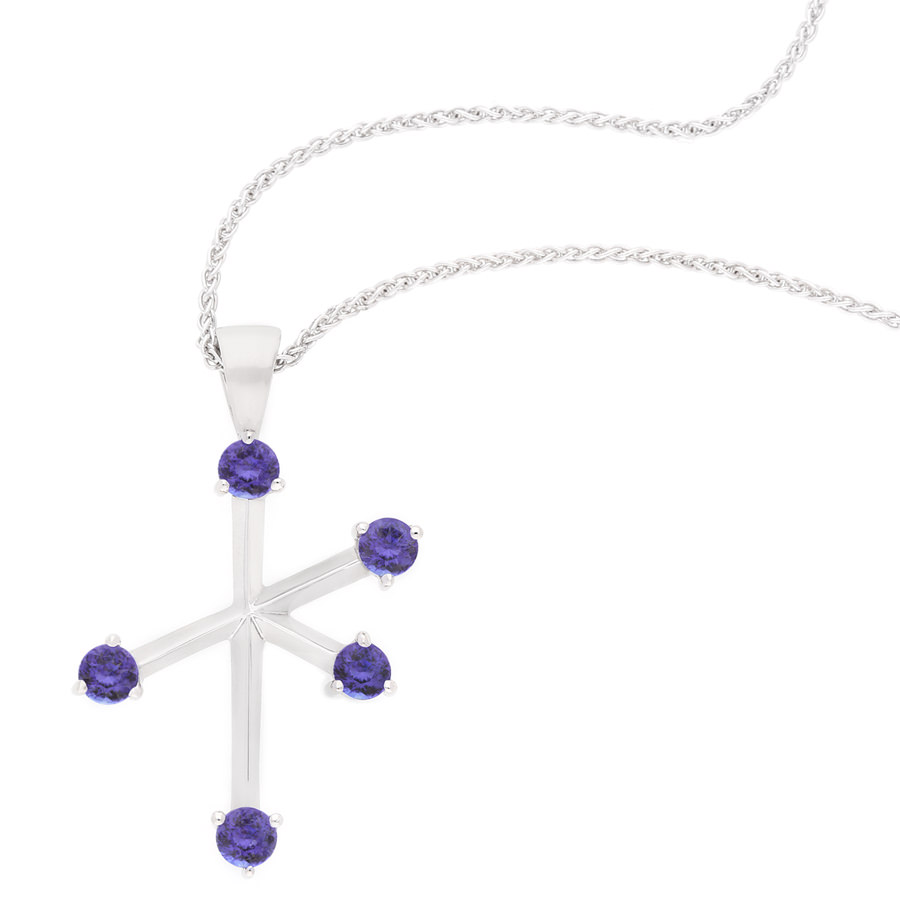 tanzanite square silver products br anderson sterling with pendant inch and webb chain