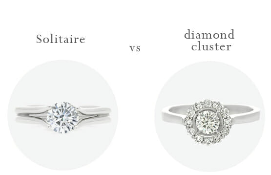 Solitaire or diamond cluster?